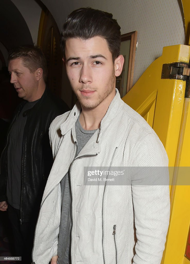 Nick Jonas attends the Mert & Marcus House of Love party for Madonna at Annabel's on February 26, 2015 in London, England.