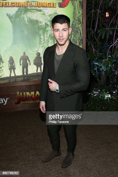 Nick Jonas attends the premiere of Columbia Pictures' Jumanji Welcome To The Jungle on December 11 2017 in Hollywood California