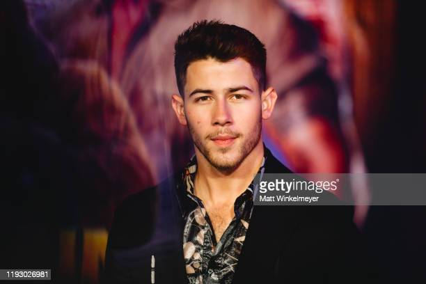 """Nick Jonas attends the premiere of Sony Pictures' """"Jumanji: The Next Level"""" on December 09, 2019 in Hollywood, California."""