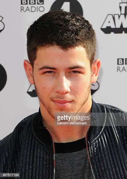 Nick Jonas attends the Radio One Teen Awards at Wembley Arena on October 19 2014 in London England