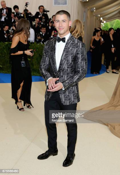 Nick Jonas attends the 'Rei Kawakubo/Comme des Garcons Art Of The InBetween' Costume Institute Gala at Metropolitan Museum of Art on May 1 2017 in...