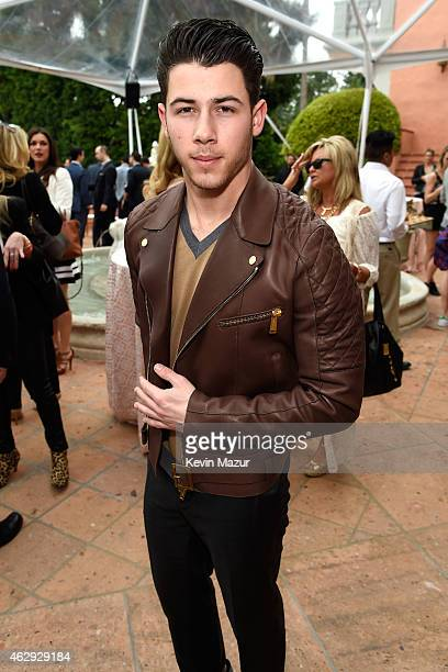 Nick Jonas attends the Roc Nation and Three Six Zero PreGRAMMY Brunch at Private Residence on February 7 2015 in Beverly Hills California