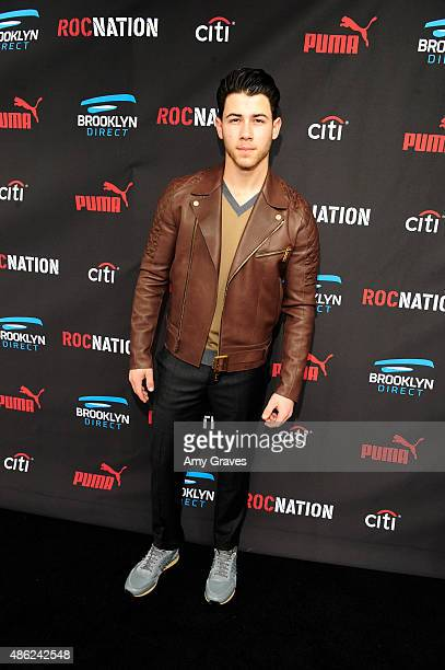 Nick Jonas attends the Roc Nation Grammy Brunch 2015 on February 7 2015 in Beverly Hills California