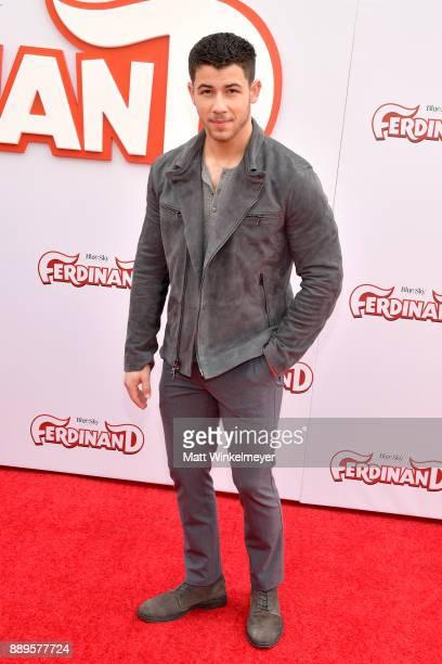 Nick Jonas attends the screening of 20th Century Fox's 'Ferdinand' at Zanuck Theater at 20th Century Fox Lot on December 10 2017 in Los Angeles...