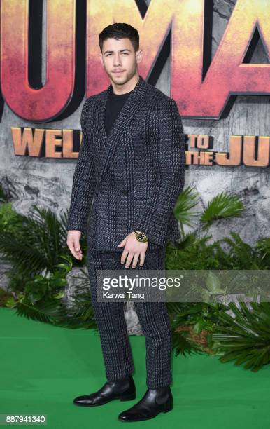 Nick Jonas attends the UK premiere of Jumanji Welcome To The Jungle at Vue West End on December 7 2017 in London England