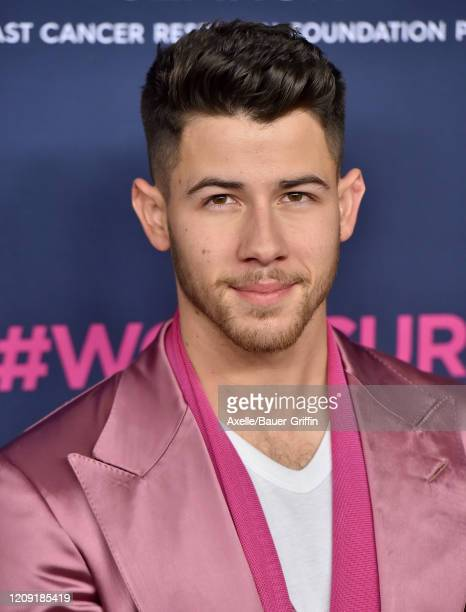 Nick Jonas attends The Women's Cancer Research Fund's An Unforgettable Evening 2020 at Beverly Wilshire A Four Seasons Hotel on February 27 2020 in...