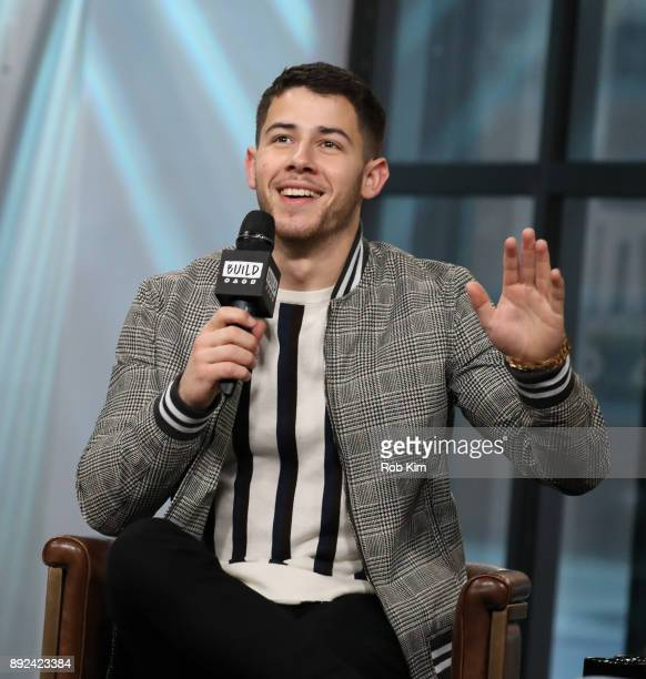 Nick Jonas discusses 'Jumanji Welcome To The Jungle' during Build Series at Build Studio on December 14 2017 in New York City