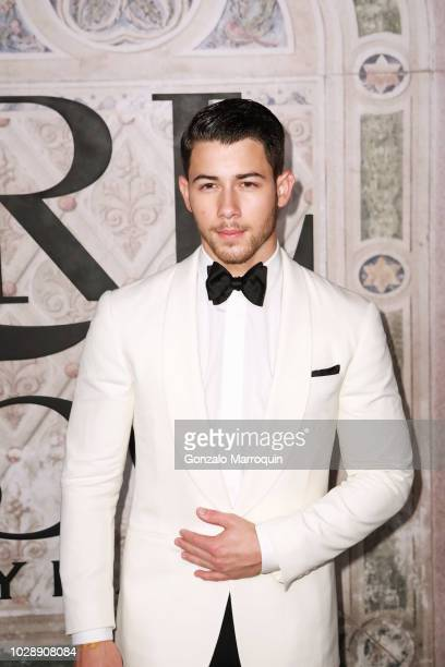 Nick Jonas during the Ralph Lauren 50th Anniversary September 2018 New York Fashion Week at Bethesda Terrace on September 7 2018 in New York City