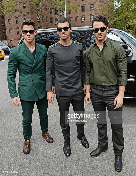 Nick Jonas Joe Jonas and Kevin Jonas of Jonas Brothers are seen on September 5 2013 in New York City