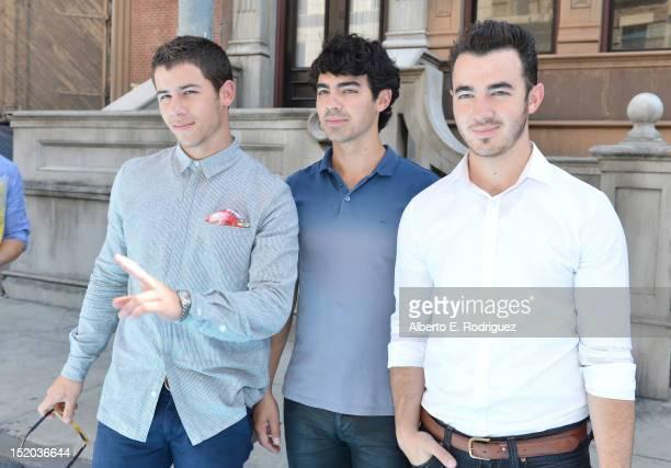 Nick Jonas Joe Jonas and Kevin Jonas of The Jonas Brothers arrive at Variety's Power of Youth presented by Cartoon Network held at Paramount Studios...