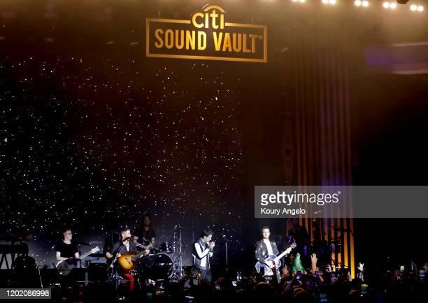Nick Jonas, Joe Jonas and Kevin Jonas of 'The Jonas Brothers' perform onstage as Citi Sound Vault Presents The Jonas Brothers Live During The Biggest...