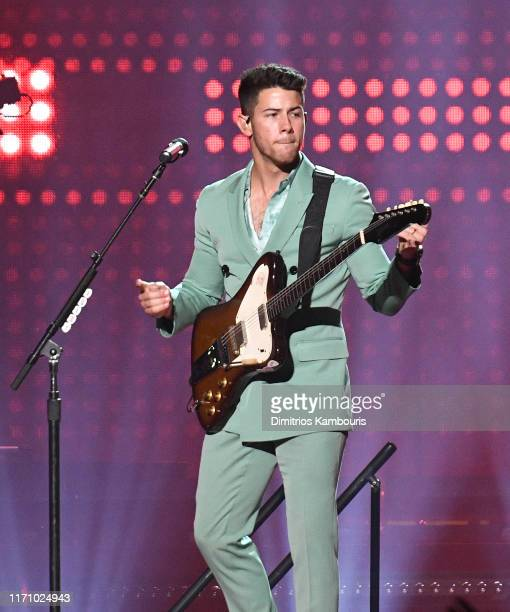 Nick Jonas of The Jonas Brothers performs in concert at Madison Square Garden on August 29, 2019 in New York City.