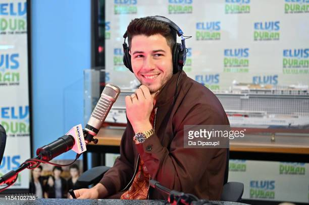 """Nick Jonas of the Jonas Brothers visits the """"Elvis Duran and the Z100 Morning Show"""" at Z100 Studio on June 06, 2019 in New York City."""