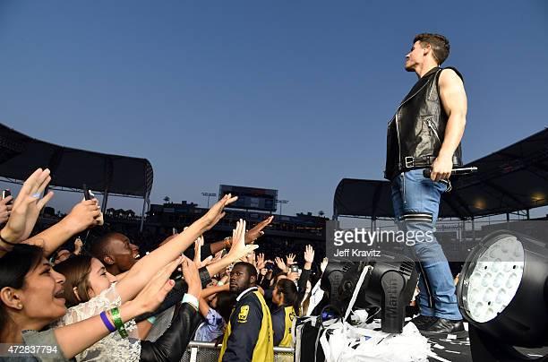Nick Jonas performs at StubHub Center on May 9, 2015 in Los Angeles, California.
