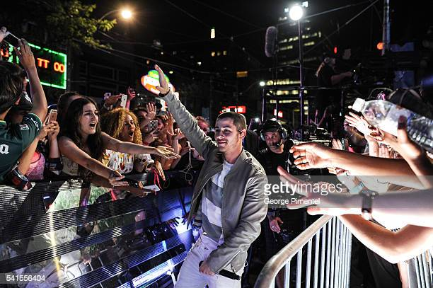 Nick Jonas performs at the 2016 iHeartRADIO MuchMusic Video Awards at MuchMusic HQ on June 19 2016 in Toronto Canada