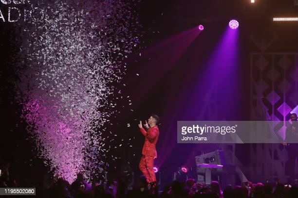 Nick Jonas performs on stage during Y100's Jingle Ball 2019 Presented by Capital One at BB&T Center on December 22, 2019 in Sunrise, Florida.