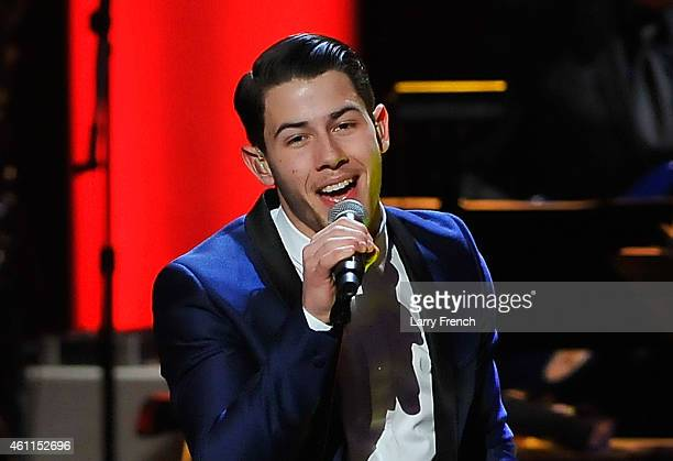 Nick Jonas performs onstage at The Lincoln Awards A Concert For Veterans The Military Family presented by The Friars Foundation at John F Kennedy...