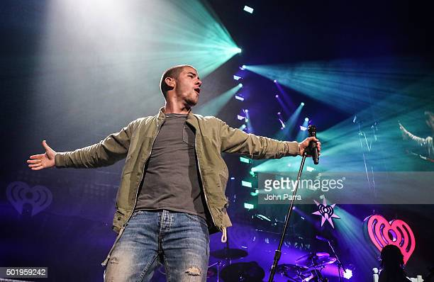 Nick Jonas performs onstage at Y100's Jingle Ball 2015 on December 18 2015 in Miami Florida