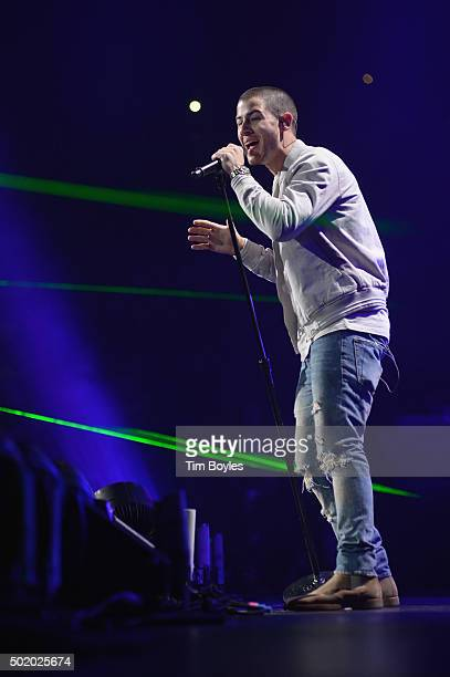 Nick Jonas performs onstage during 93.3 FLZ's Jingle Ball 2015 Presented by Capital One at Amalie Arena on December 19, 2015 in Tampa Bay, Fla.