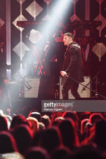 Nick Jonas performs onstage during Power 961's Jingle Ball 2017 Presented by Capital One at Philips Arena on December 15 2017 in Atlanta Georgia