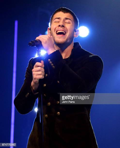 Nick Jonas performs onstage during the 2017 Person of the Year Gala honoring Alejandro Sanz at the Mandalay Bay Convention Center on November 15 2017...