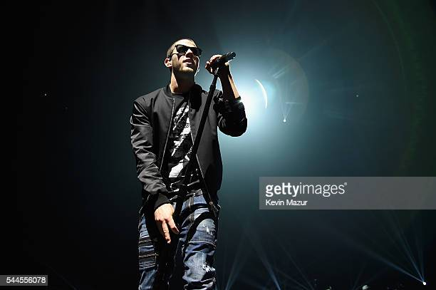 Nick Jonas performs onstage during the Demi Lovato and Nick Jonas Kick Off the 2016 Honda Civic Tour Future Now at Amway Center on July 2 2016 in...