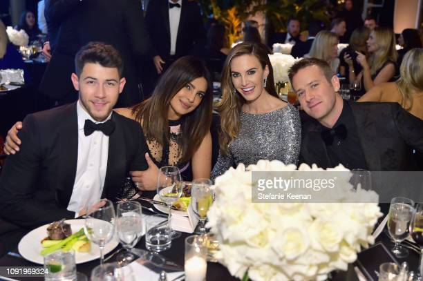 Nick Jonas Priyanka Chopra Elizabeth Chambers and Armie Hammer attend Learning Lab Ventures 2019 Gala Presented by Farfetch at Beverly Hills Hotel on...