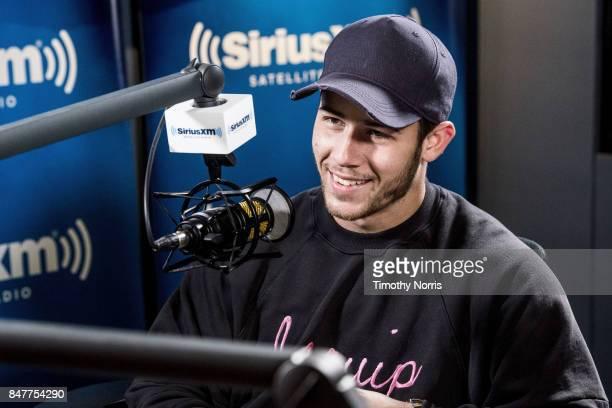 Nick Jonas speaks at SiriusXM Studios on September 15 2017 in Los Angeles California