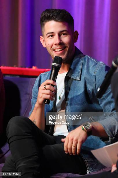 Nick Jonas speaks onstage at An Evening With The Jonas Brothers at the GRAMMY Museum on October 07, 2019 in Los Angeles, California.
