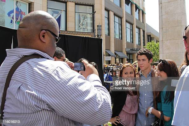 Nick Jonas visits Extra at The Grove on June 13 2011 in Los Angeles California