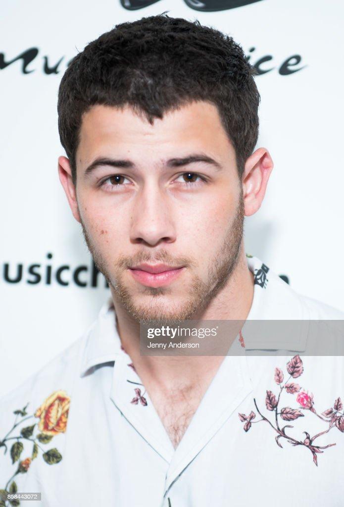 Nick Jonas visits Music Choice on October 6, 2017 in New York City.