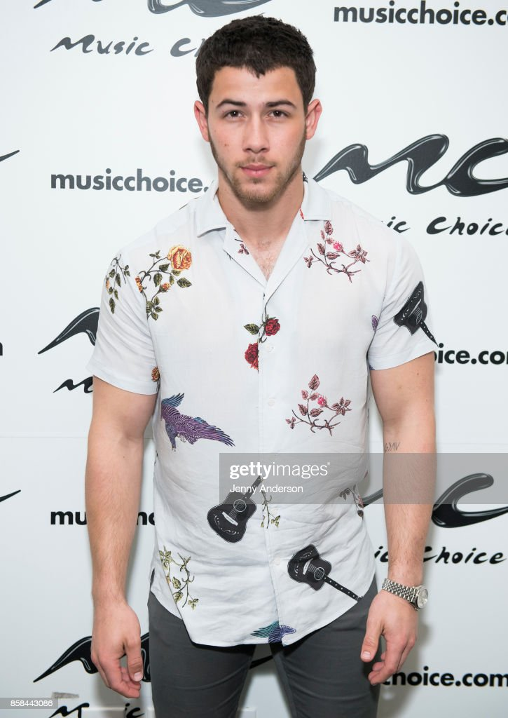 Nick Jonas visits Music Choice on October 6, 2017 in New York City.