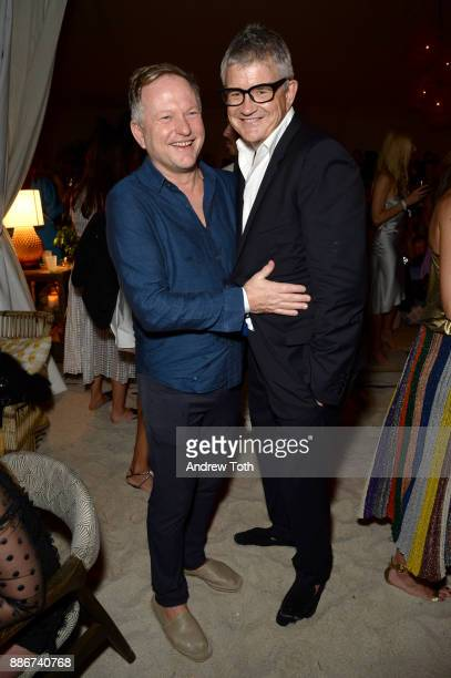 Nick Jones and Jay Jopling attend a White Cube Soho Beach House Party During Art Basel Miami Beach 2017 at Soho Beach House on December 5 2017 in...
