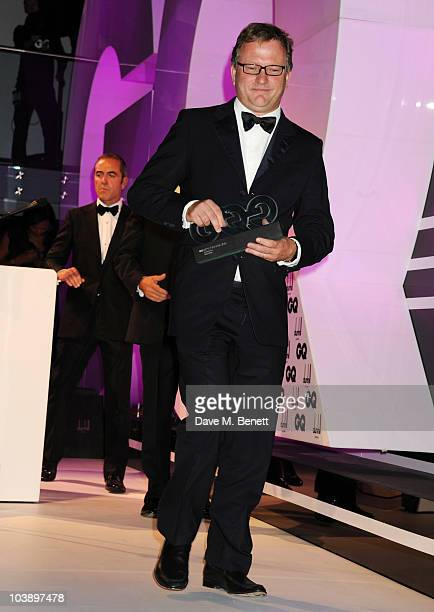 Nick Jones with the Entreprenuer Award attends the GQ Men Of The Year Awards 2010 at The Royal Opera House on September 7 2010 in London England