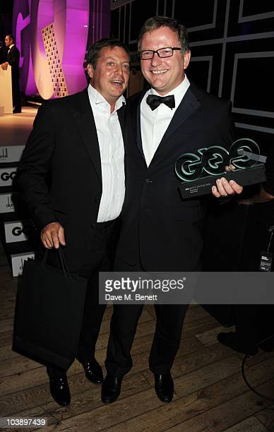 Nick Jones with the Entreprenuer Award presented by Matthew Freud attend the GQ Men Of The Year Awards 2010 at The Royal Opera House on September 7...