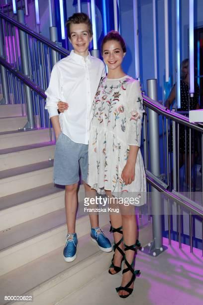 Nick Julius Schuck and LisaMarie Koroll attend the 'Bertelsmann Summer Party' at Bertelsmann Repraesentanz on June 22 2017 in Berlin Germany