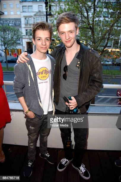 Nick Julius Schuck and Timur Bartels attend the 25th anniversary celebration at Hard Rock Cafe Berlin on May 18 2017 in Berlin Germany