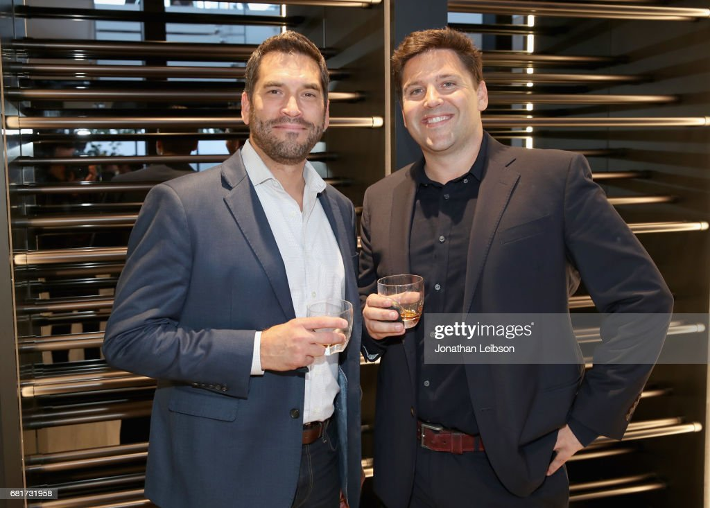 Nick Karamanos (L) Ashton Ramsey attend the private Hennessy X.O on Ice dinner, hosted by actor Armie Hammer, in Beverly Hills, CA on May 10, 2017. The dinner served to unveil Hennessy X.O's new 3-D printed ice bucket designed by architect Paul McClean. The ice bucket encourages serving Hennessy X.O, the world's original Extra Old Cognac, on ice to best enjoy the spirit's multisensory taste odyssey.