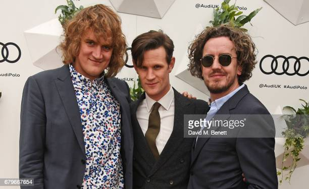 Nick Kingsnorth Matt Smith and Jonny McCabe attends the Audi Polo Challenge at Coworth Park on May 6 2017 in Ascot United Kingdom