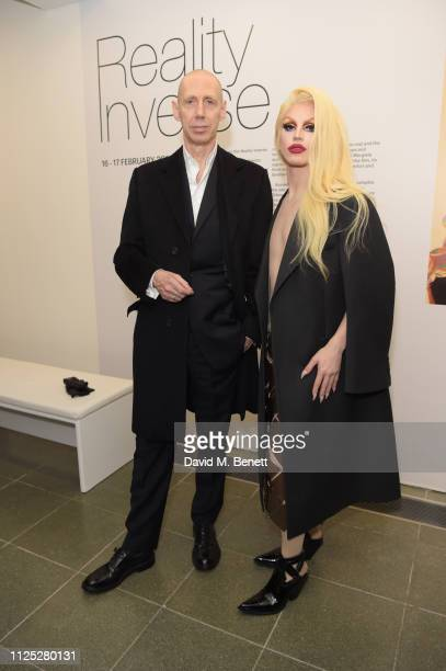 Nick Knight and Aquaria attend Maison Margiela's 'Reality Inverse' screening at The Serpentine Gallery on February 16 2019 in London England
