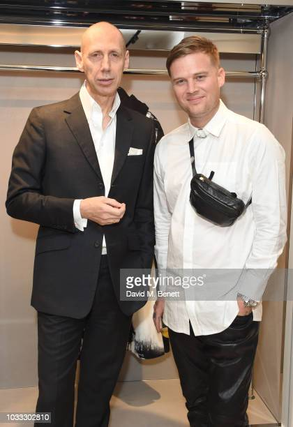 Nick Knight and Matthew Williams attend the launch of the Nick Knight x Alyx Mackintosh limited edition coat during London Fashion Week September...