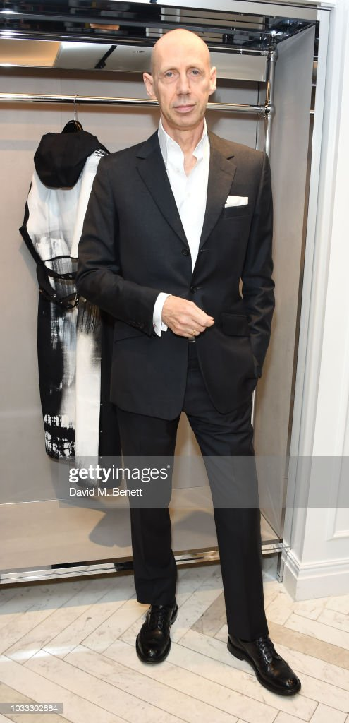 Nick Knight attends the launch of the Nick Knight x Alyx Mackintosh limited edition coat during London Fashion Week September 2018 at the Mackintosh boutique on September 14, 2018 in London, England.
