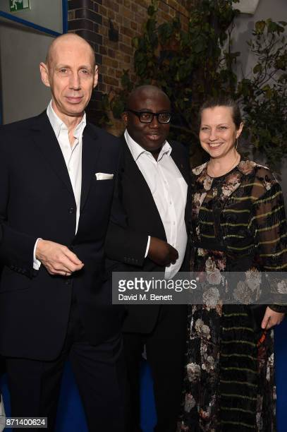 Nick Knight Edward Enninful and Charlotte Knight attends a dinner hosted by Jonathan Newhouse and Albert Read for Edward Enninful to celebrate the...