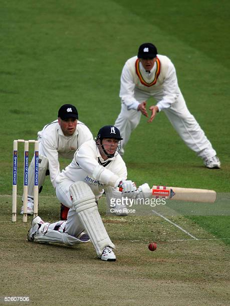 Nick Knight of Warickshire hits out during the PreSeason Challenge match between the MCC and Warwickshire at Lords on April 9 2005 in London England