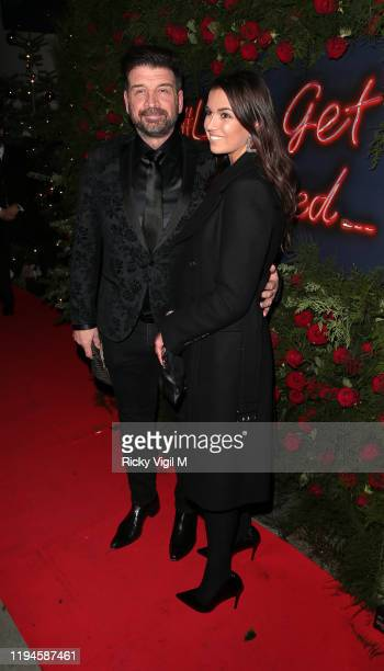 Nick Knowles and Emily Hallinan seen attending Tramp's Christmas Party in celebration of their 50th Anniversary on December 17 2019 in London England