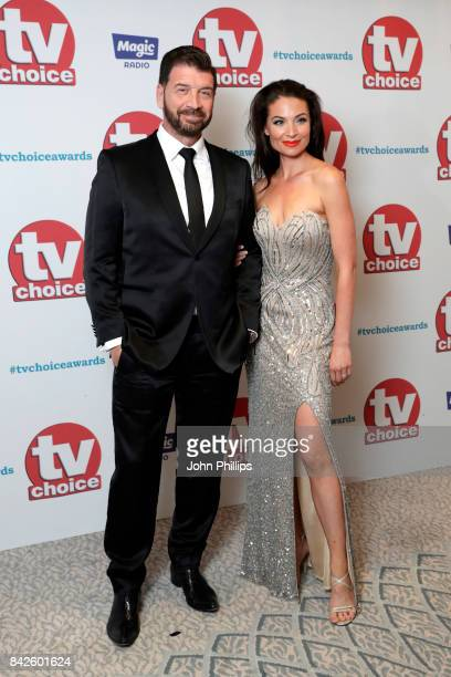Nick Knowles and guest arrive for the TV Choice Awards at The Dorchester on September 4 2017 in London England