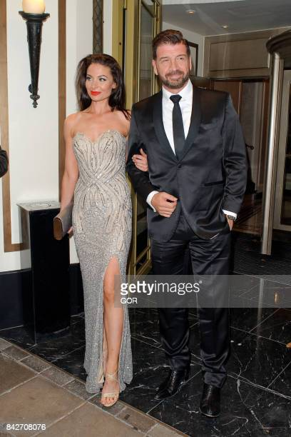 Nick Knowles and Guest at the TV Choice awards at the Dorchester hotel on September 4 2017 in London England