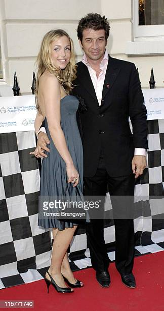 Nick Knowles and guest during The F1 Party in Aid of Great Ormond Street Hospital June 7 2006 at Duchess Palace in London Great Britain