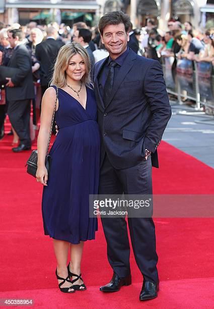 Nick Knowles and his wife Jessica Knowles arrive for the 50th anniversary screening of Zulu at Odeon Leicester Square on June 10 2014 in London...
