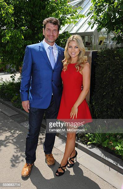 Nick Knowles and Jessica Rose Moor attend Chelsea Flower Show press day at Royal Hospital Chelsea on May 23 2016 in London England The prestigious...